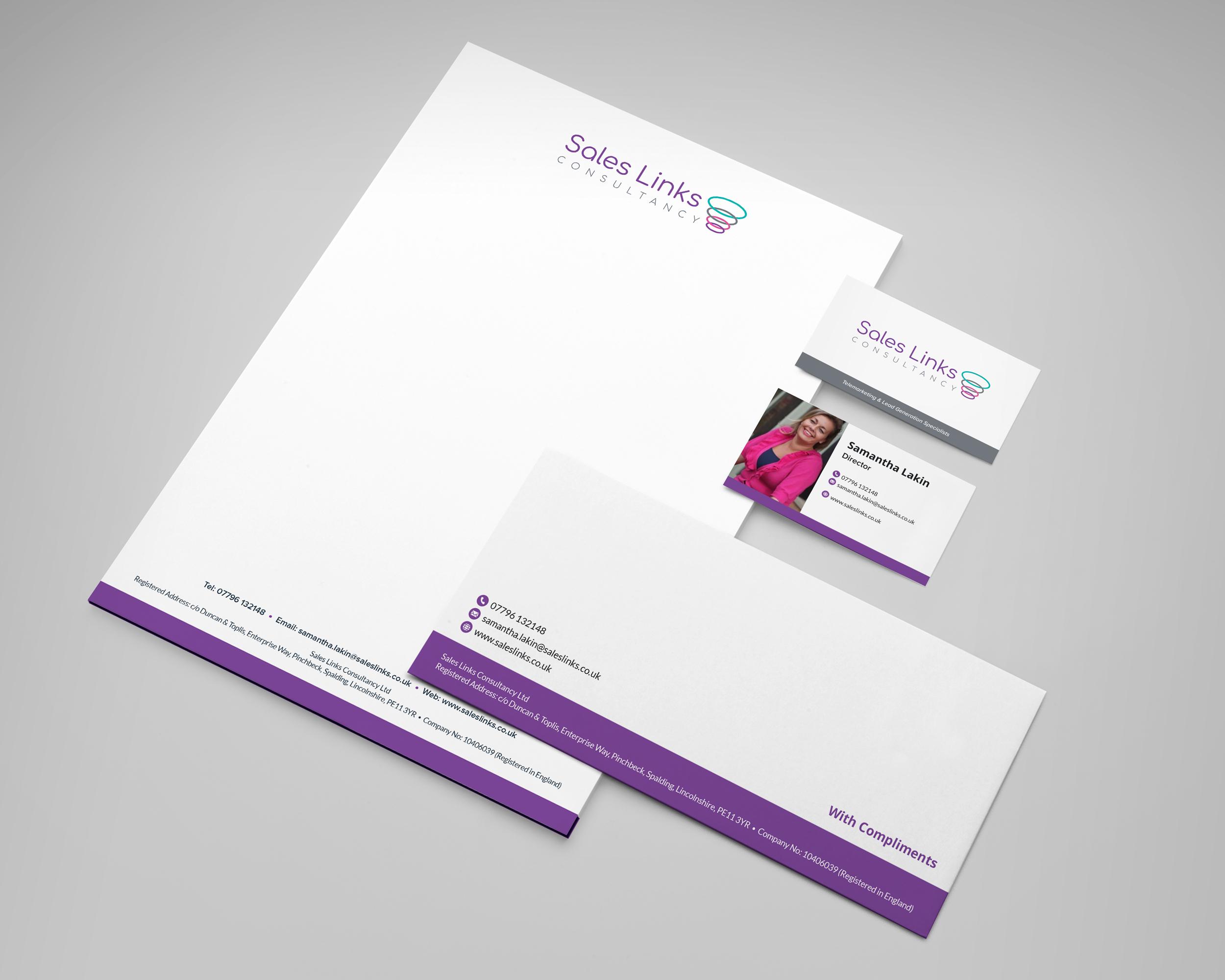 Sales Links Consultancy Branding Design