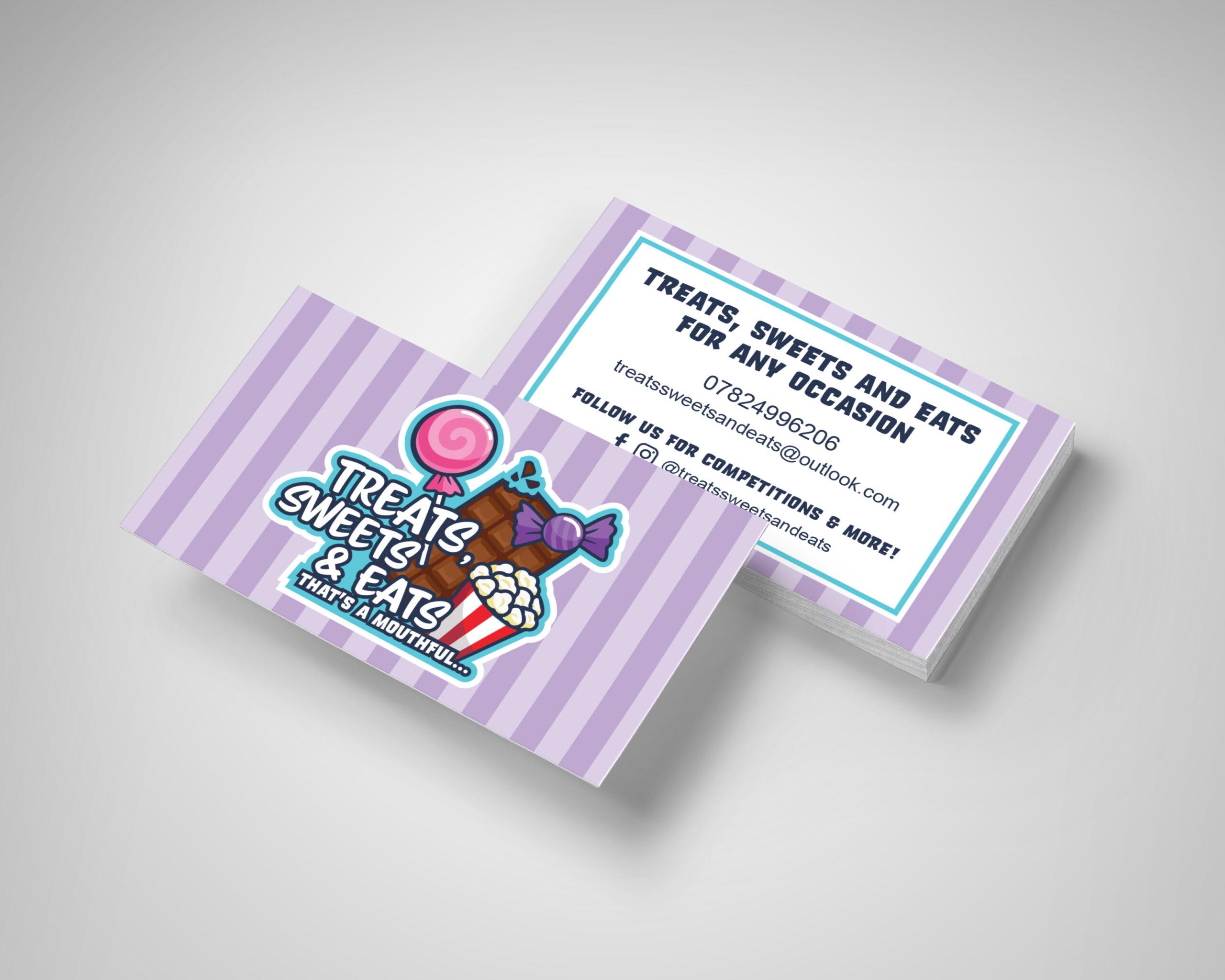Treats, Sweets & Eats Business Card